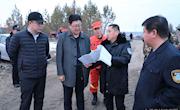 地委委员、地委政法委书记杨刚深入我县检查指导清明节期间森林防火工作