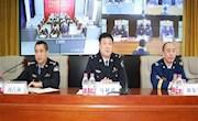 地区公安局副局长马利琪参加地区公安局组织召开推动全区公安派出所加强消防监督工作视频会议