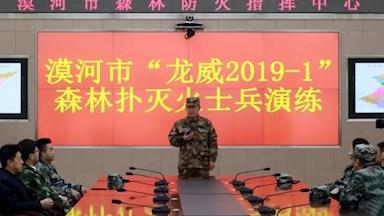 """漠河市开展""""龙威2019-1""""森林扑灭火实兵演练"""