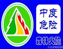 大兴安岭地区6月14日天气与森林火险等级预测