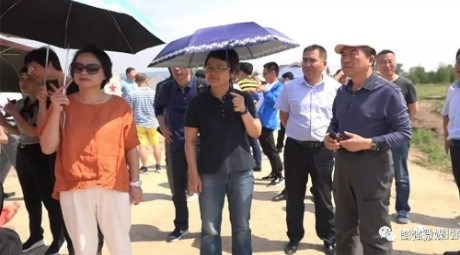 行署副专员蒋迎娟陪同揭阳市文旅考察推介团深入图强局进行考察