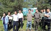 地委副书记、行署专员、林管局局长李大义深入加格达奇林业局调研