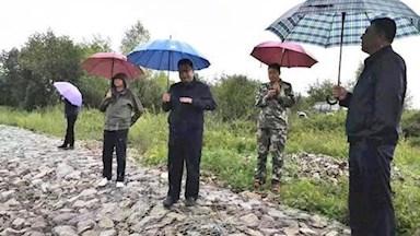 松岭区开展防汛工作