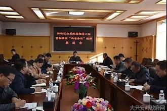 """松岭区召开扫黑除恶领导小组贯彻落实""""西安""""会议精神推进会"""